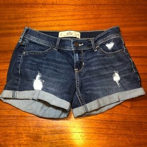 Hollister midi longest length jean shorts
